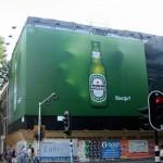 Một quảng cáo ấn tượng của Heineken tại Amsterdam, Netherlands