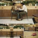 Thiết kế khá độc đáo của chiếc ghế dành cho các cặp tình nhân