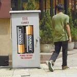 Quảng cáo pin Duracell trên các hộp điện :D