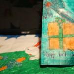 Thiệp mừng sinh nhật do Cháu gái Diệu An tự tay vẽ và làm :D